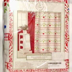 Dena Home Noelle Shower Curtain Christmas Bathroom